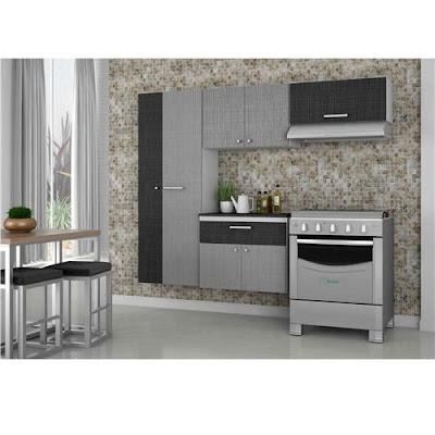 Cozinha Compacta Bartira Pérola Linho