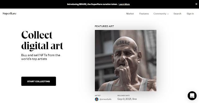 Screenshot Website SuperRare
