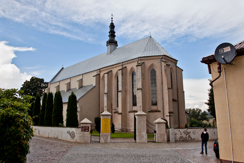 Bodzentyn, świętokrzyskie, góry, Świętokrzyski Park Narodowy, kościół parafialny
