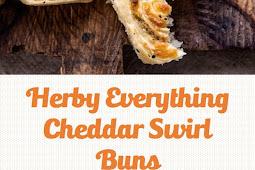 Herby Everything Cheddar Swirl Buns