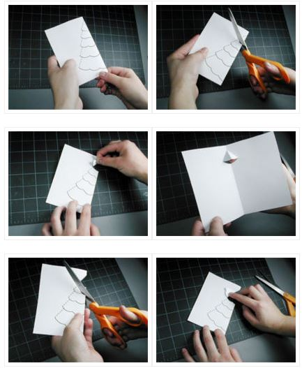 Manualidad postal Navidad en 3D