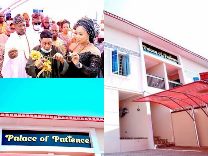 Alaafin of Oyo builds beautiful mansion for wife [Photos]