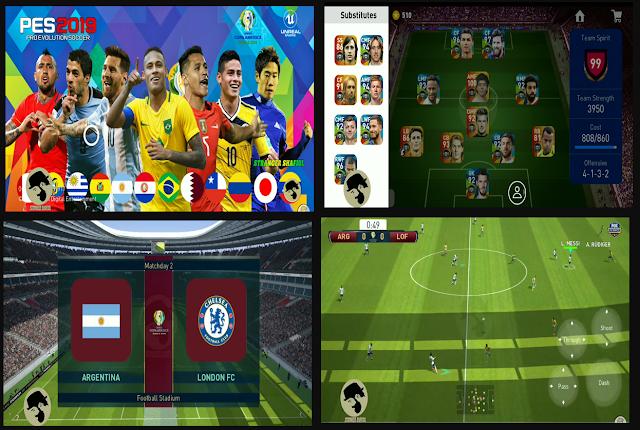 Anda jangan lupa untuk Unduh juga file  Download PES Mobile V3.3.1 Patch Copa America
