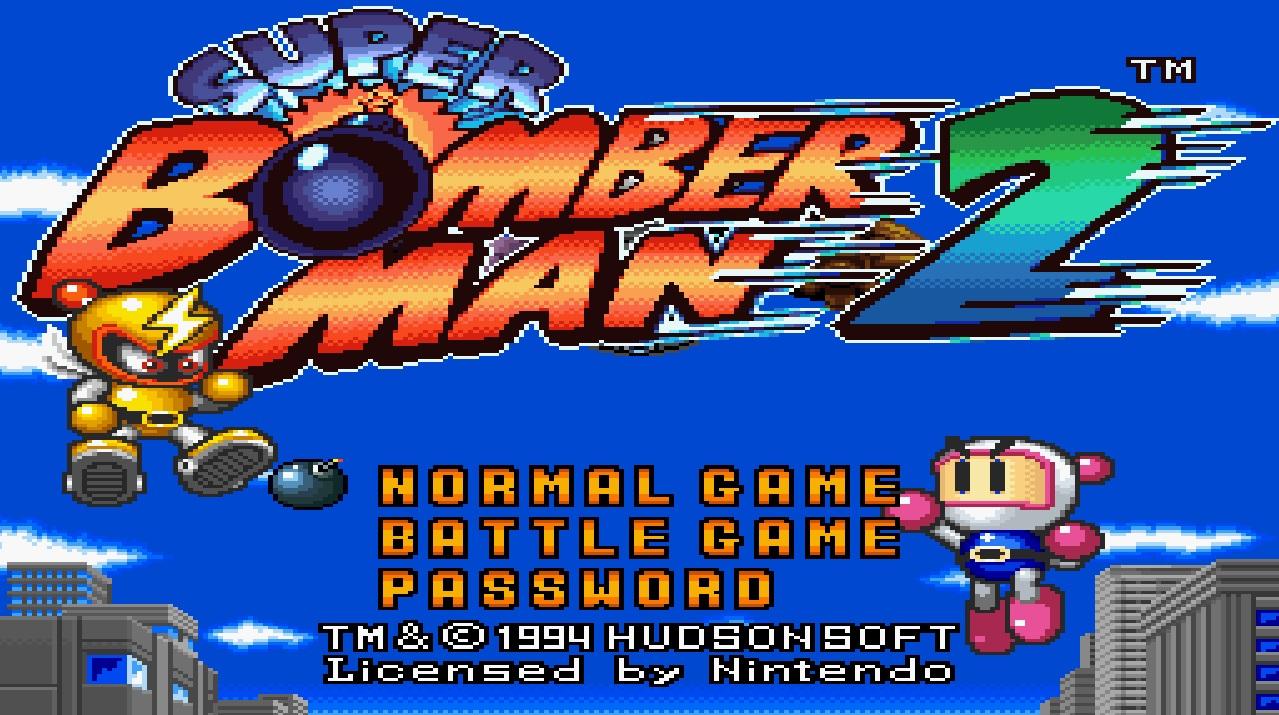 Resultado de imagem para super bomberman 2 menu