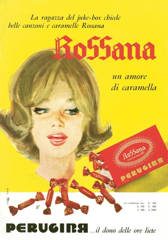 caramelle rossana vintage pubblicita
