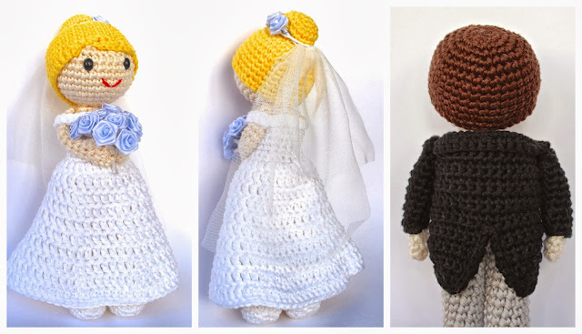 Amigurumi bride and groom