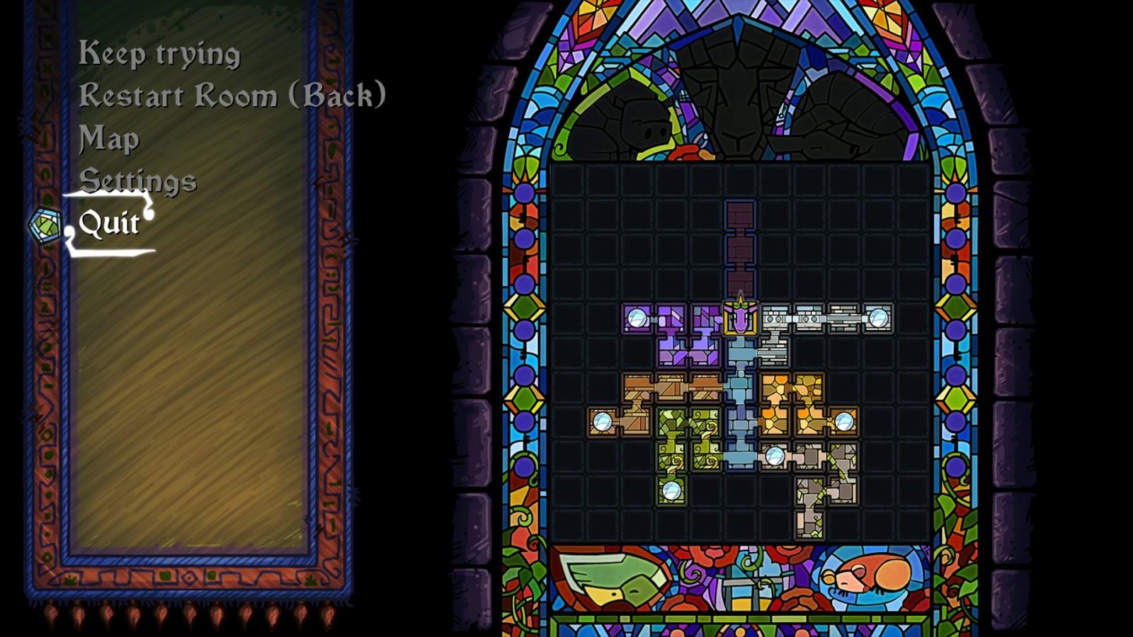 Escape Goat 2 level selection screen