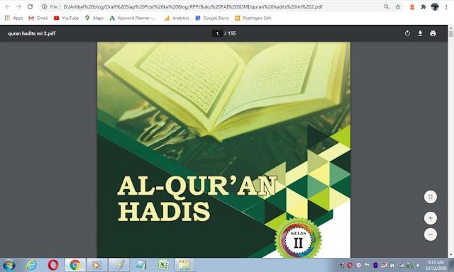 Buku Al-Qur'an Hadis kelas 2 sd/mi sesuai kma 183 tahun 2019