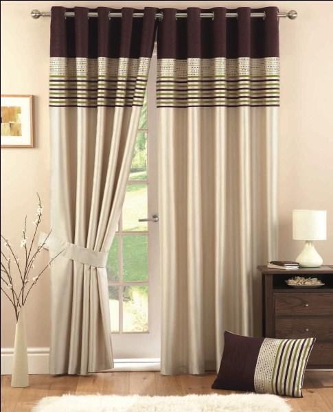 These Lovely Curtains Feature A Great Balance Of Rich Colour And Soothing Neutrals The Top Chenille Bands Beautifully Offset Faux Silk Base