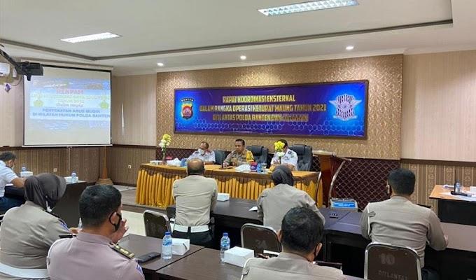 Persiapan Pengamanan Mudik Lebaran 2021, Ditlantas Polda Banten Gelar Rakor Lintas Instansi
