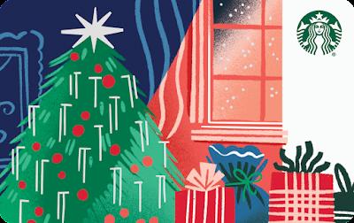 Holiday Tree Starbucks Card