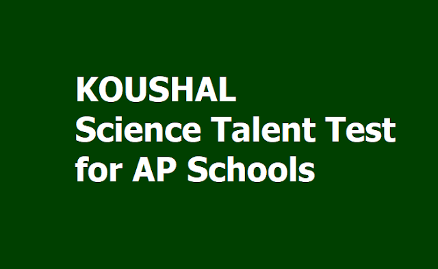 KOUSHAL Science Talent Test 2019 (Quiz & Poster Competitions) for AP Schools