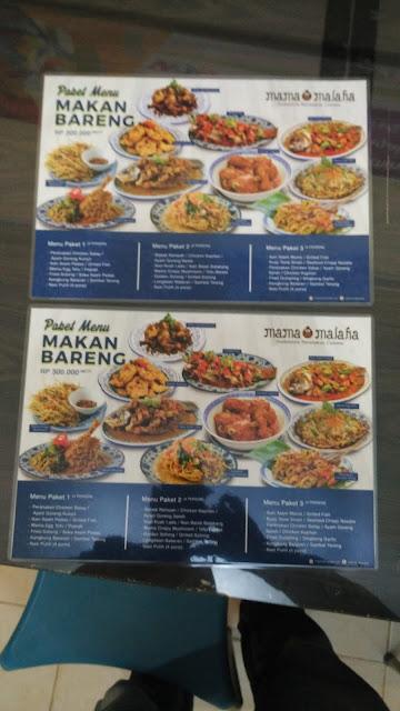 Brosur Promosi Menu Tempat Makan