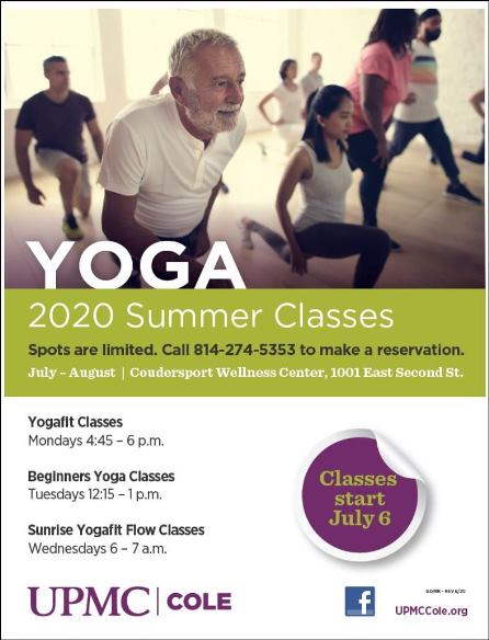 UPMC Cole Summer Yoga Classes