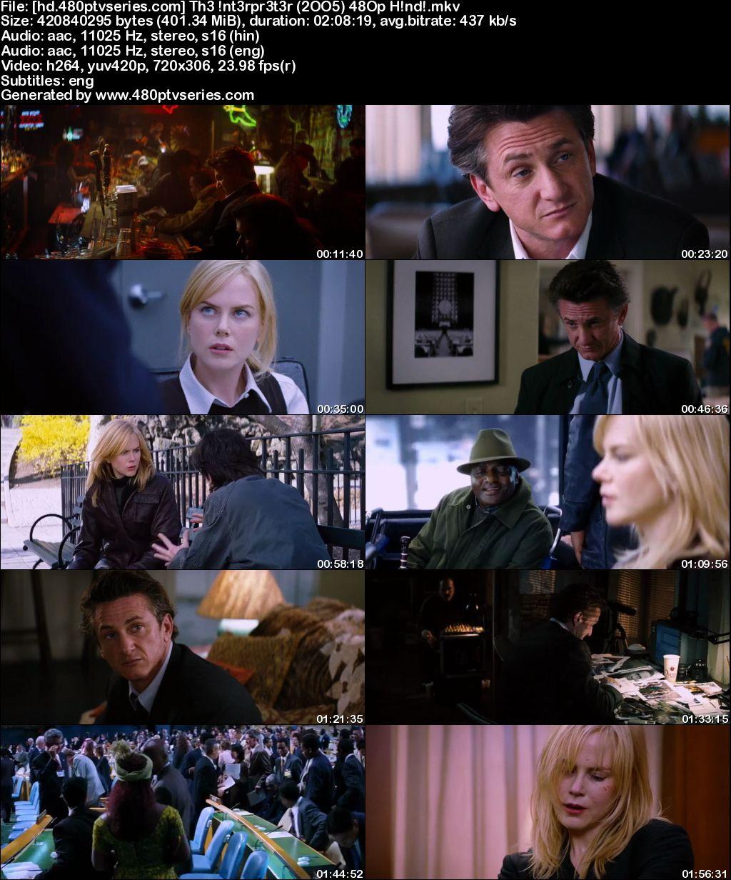 The Interpreter (2005) 400MB Full Hindi Dual Audio Movie Download 480p Bluray Free Watch Online Full Movie Download Worldfree4u 9xmovies