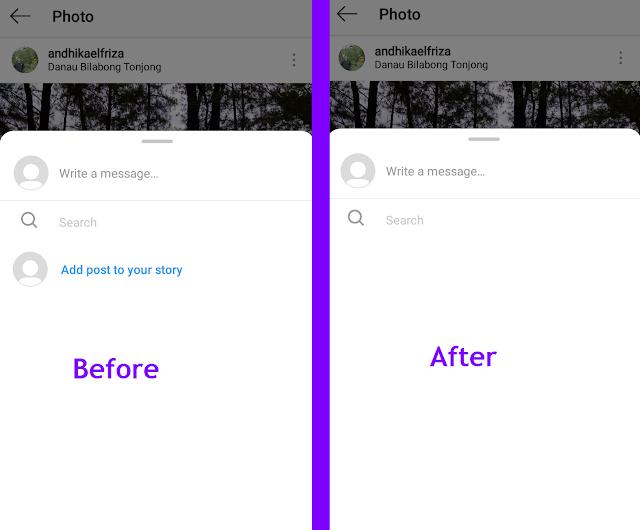 Agar Postingan Instagram Tidak Bisa di Repost Ke Story