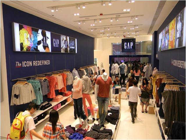 Compras nas lojas da GAP em Miami e Orlando