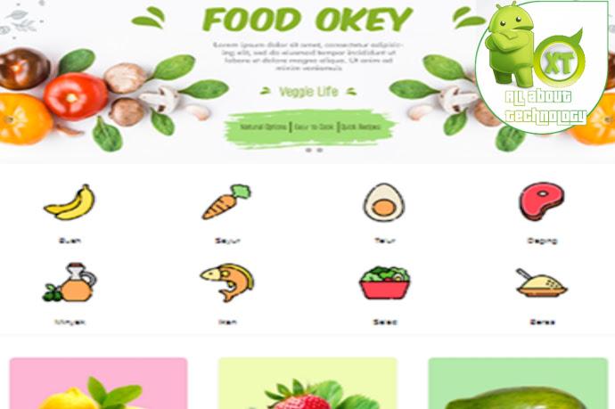 Premium E-commerce Food Shop Blogger Template