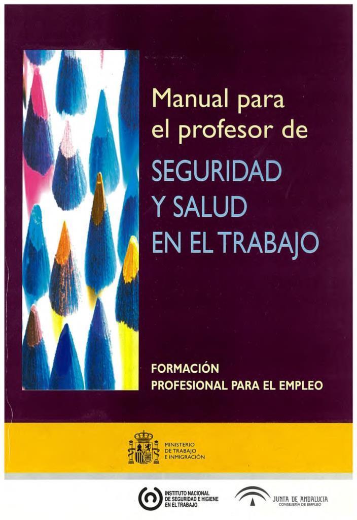 Manual para el profesor de seguridad y salud en el trabajo