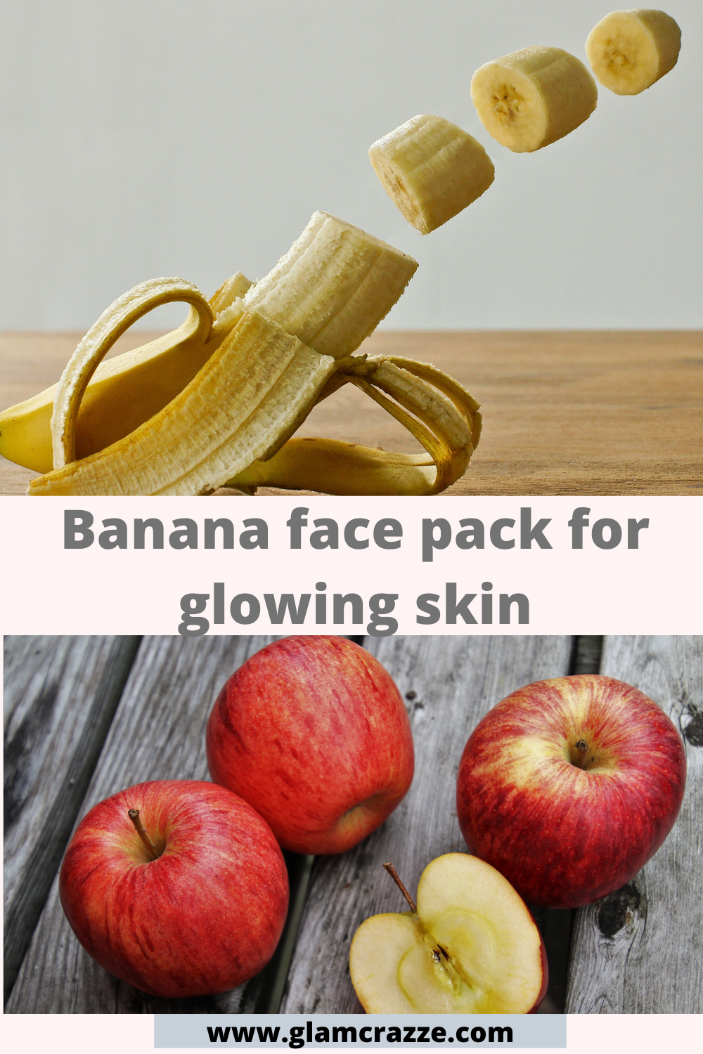 Banana and apple face pack for glowing skin