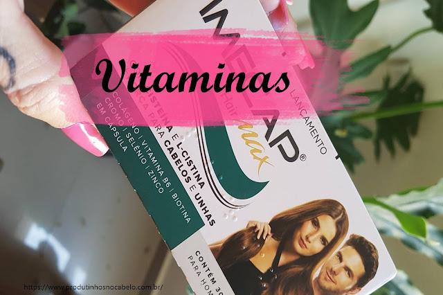 Caixa de vitamina suplemento Imecap Hair