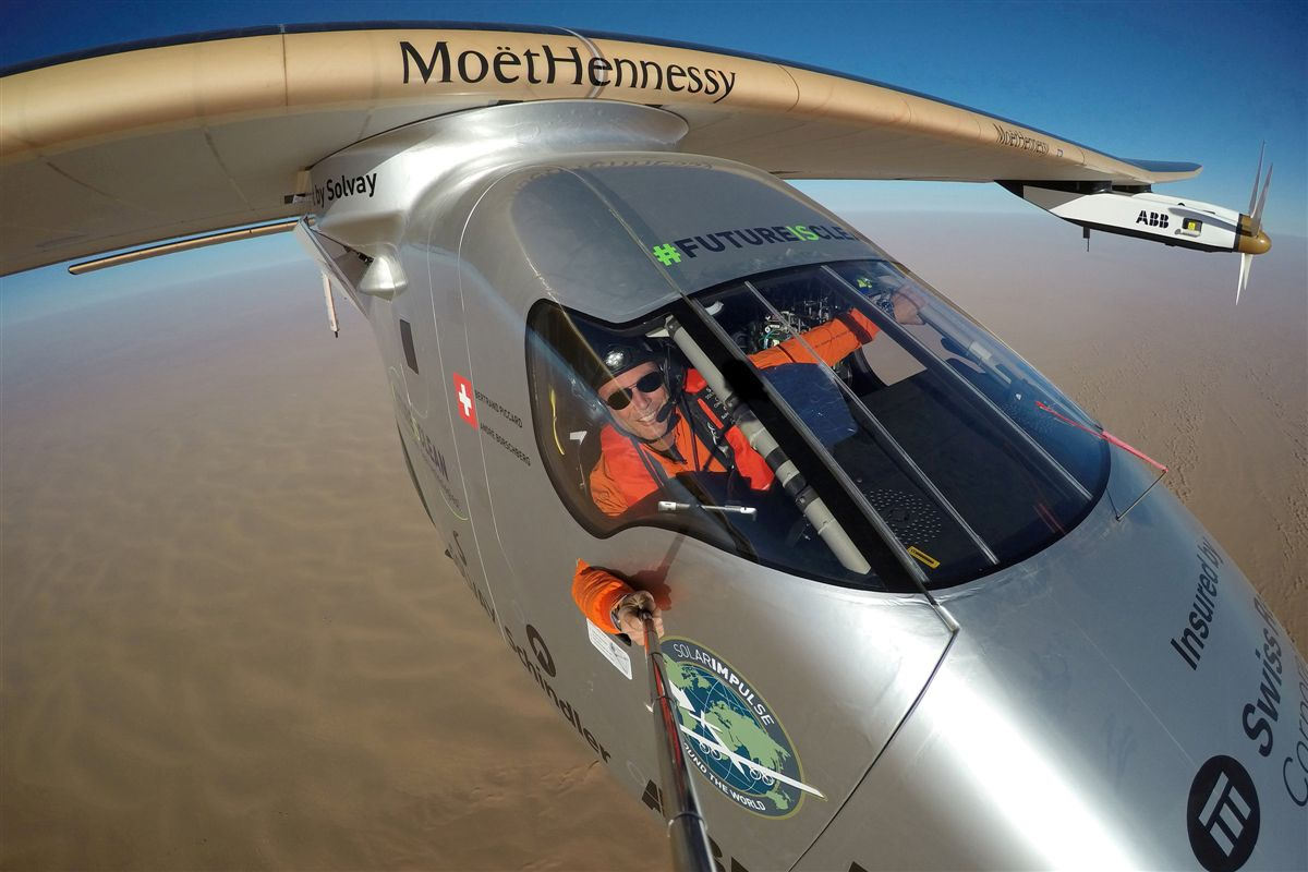 Selfie no Solar Impulse 2