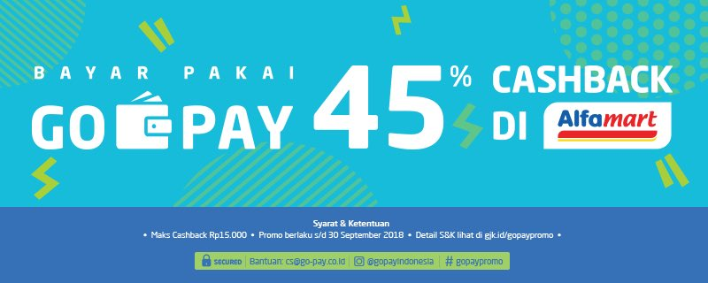 GoJek - Promo Spesial Kemerdekaan Cashback 45% Pakai GO-PAY di Alfamart
