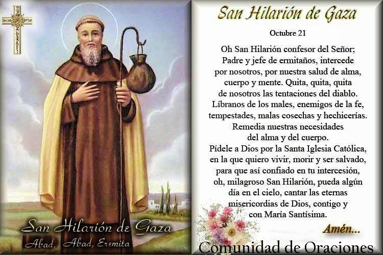 Resultado de imagen para San Hilarión, Abad.-