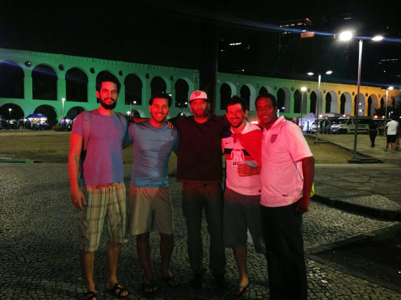 Arcos da Lapa - Festa depois da final - Copa do Mundo Brasil 2014 - Rio de Janeiro