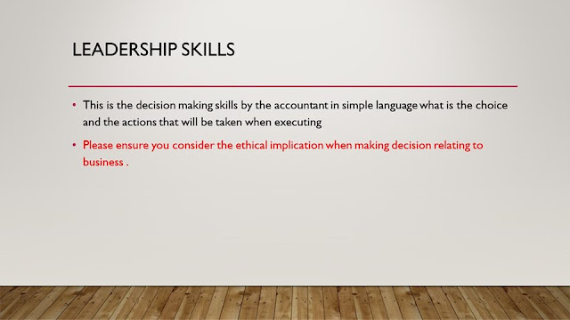 Leadership Skills in CIMA OCS case study