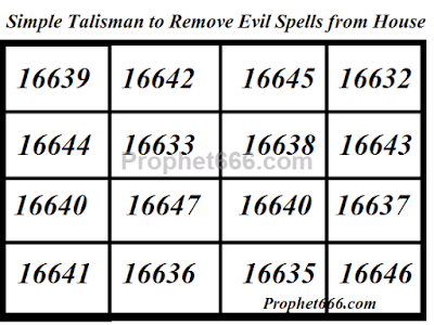 Simple Talisman to Remove Witchcraft from a House
