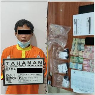 Ditresnarkoba Polda Kepri Terima Limpahan Kasus Narkotika Jenis Sabu Dari Bea Cukai Kota Batam