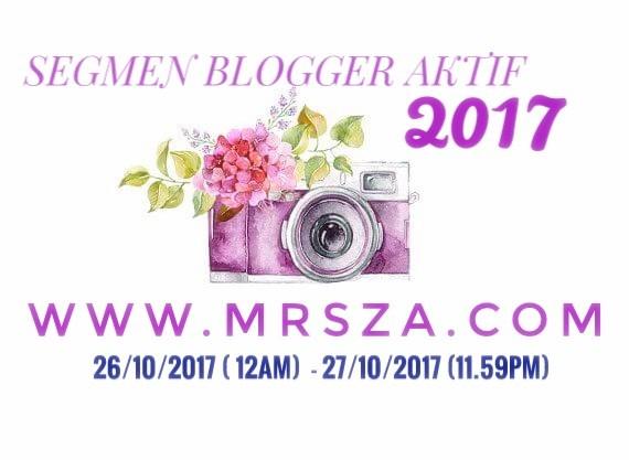 Segmen Blogger Aktif 2017 - mrszacom