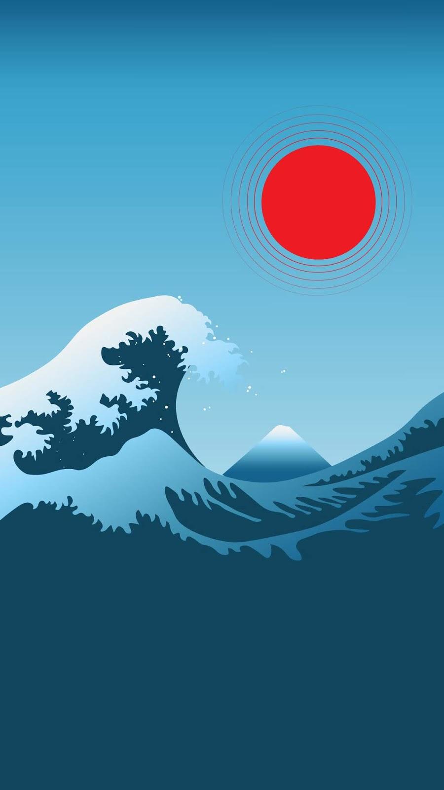 Minimalism Great Wave off Kanagawa