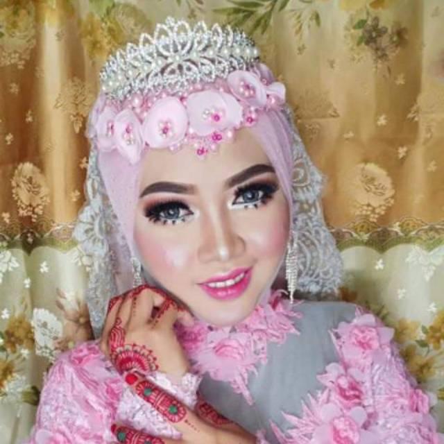 model hijab pengantin sesuai bentuk wajah