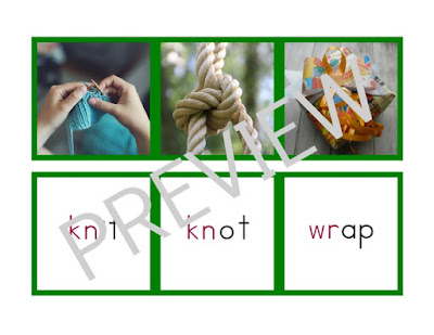 Montessori-inspired Advanced Language Picture and Word Match Up