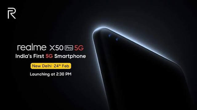 Realme X50 Pro 5G will be the first 5G phone in India to be launched in New Delhi on 24 February.