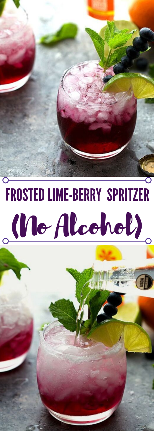 FROSTED LIME-BERRY SPRITZER #drink #smoothie #cocktail #party #freshdrink