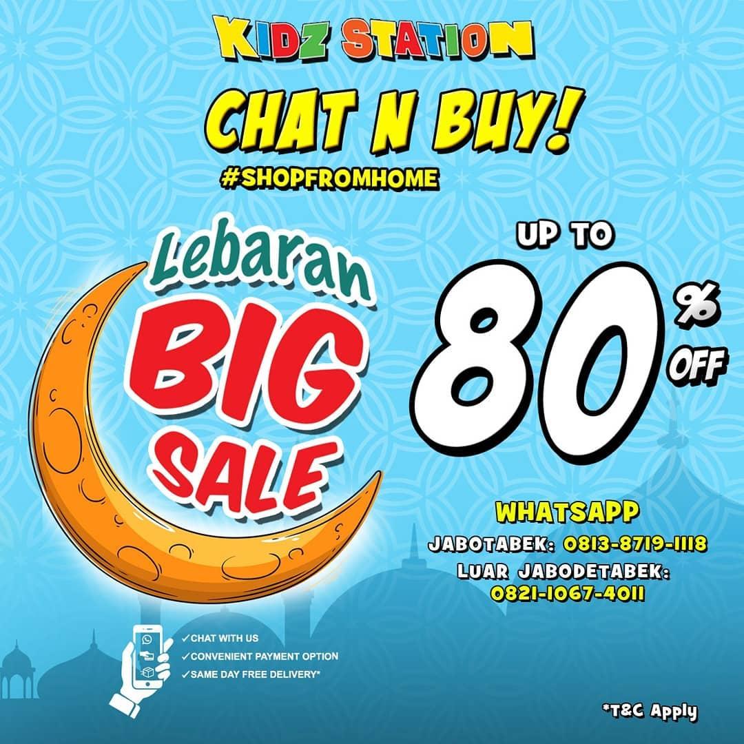Promo Kidz Station Lebaran Big Sale Periode 12 - 31 Mei 2020