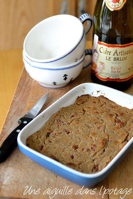 blé noir-far-bretagne-lardons-échalotes-sans gluten