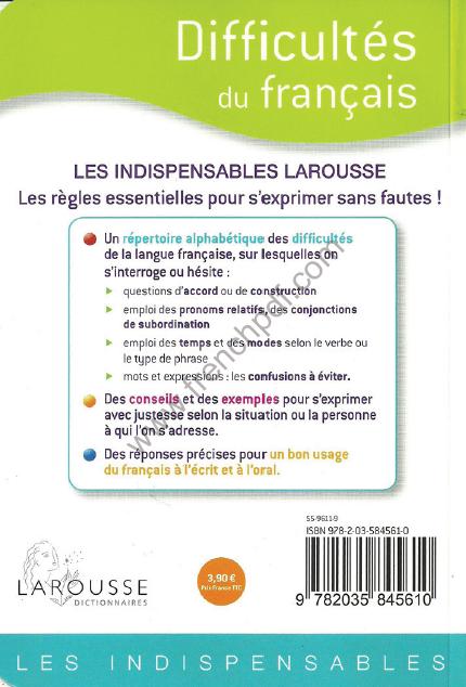 Télécharger livre: Difficultés du français larousse pdf gratuit
