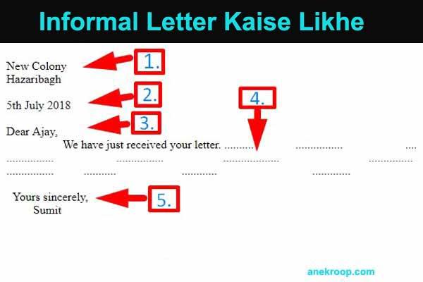 Informal letter kaise likhe