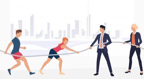 ilustrasi diserang kompetitor