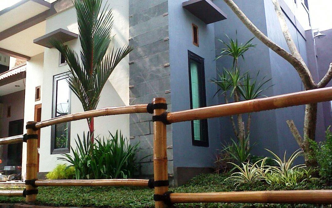Model Pagar Bambu Rumah Minimalis