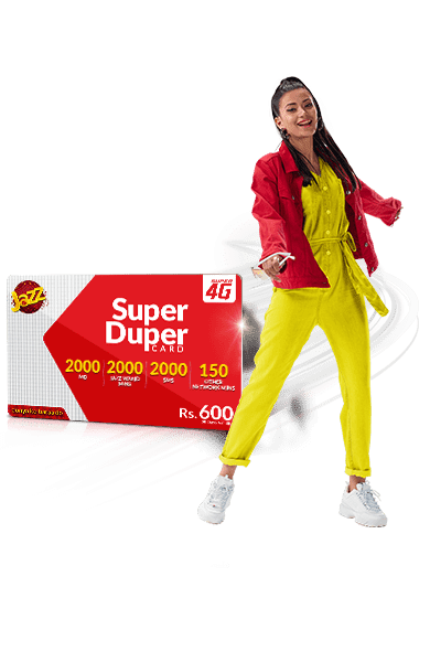Jazz Super Duper Card | Enjoy Free Internet,Call & SMS