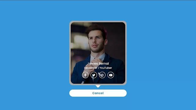 Profile Card Design using HTML & CSS
