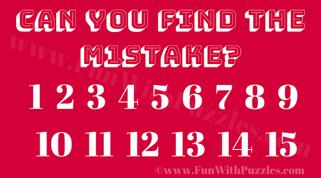 Can you Find the Mistake? 123456789101112131415