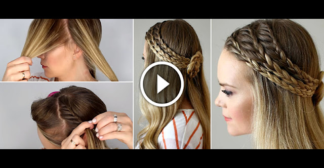 Learn, How To Create Triple Lace Braided Hairstyle, See Video Tutorial