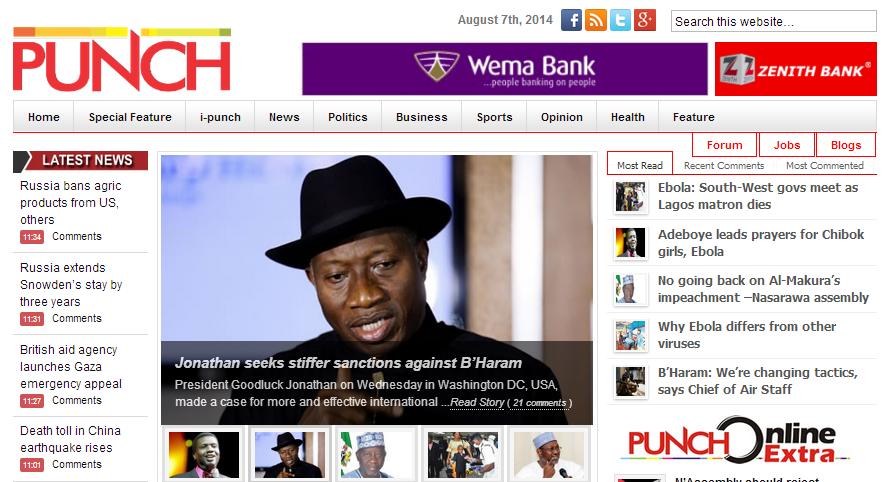 Nigeria Daily Sun Newspaper Today