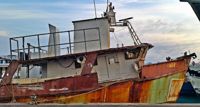 Rusty fishing boat.
